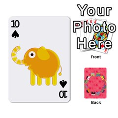 Elephant Cards By Jyothi   Playing Cards 54 Designs   Hfuh4jsmazv4   Www Artscow Com Front - Spade10