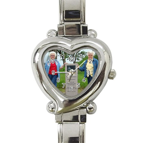 Aunt Dorothy Watch By Mallory   Heart Italian Charm Watch   2oona669txnd   Www Artscow Com Front