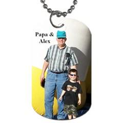 Papa & Alex By Sarah   Dog Tag (two Sides)   M7bqkzqatw4h   Www Artscow Com Front
