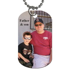 Papa & Alex By Sarah   Dog Tag (two Sides)   M7bqkzqatw4h   Www Artscow Com Back