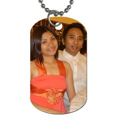 Dad And Mom By Jes   Dog Tag (two Sides)   61t4t2l2n3h0   Www Artscow Com Front