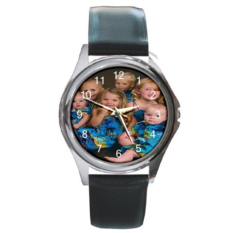 Grandbabies Watch By Jeanie   Round Metal Watch   Uzjwfvazj45q   Www Artscow Com Front