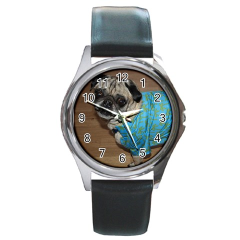 Bob Watch By Becki   Round Metal Watch   M9jf4rnbd94v   Www Artscow Com Front