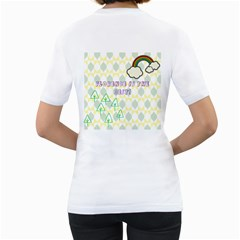 Chrissy By Florence   Women s T Shirt (white) (two Sided)   59jt218rbqlr   Www Artscow Com Back