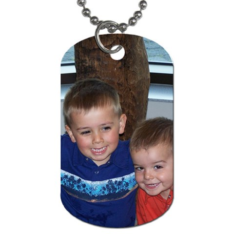 Dog Tag Necklace By Cari Snell   Dog Tag (one Side)   6d0ppuxax3iz   Www Artscow Com Front