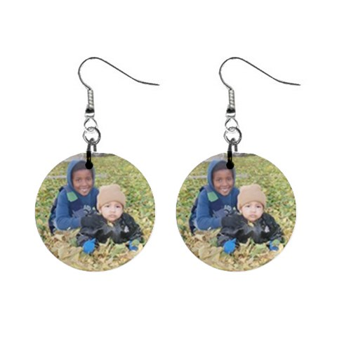 Estevan And Julián Playing! By Esperanza Dodge   1  Button Earrings   0646zobis26b   Www Artscow Com Front