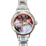 My kids - Round Italian Charm Watch