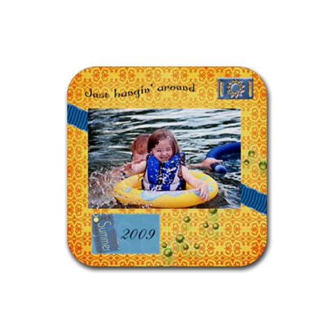 Summer 2009 Coaster By Tammy Baker   Rubber Coaster (square)   J5wu8ey9xlar   Www Artscow Com Front