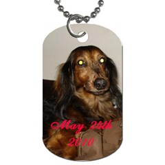 In Memory Of Rufus By Allison   Dog Tag (two Sides)   60kjx7n1byd0   Www Artscow Com Back