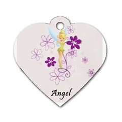 Angel By Angelique Musick   Dog Tag Heart (two Sides)   Ah9azt7ayk31   Www Artscow Com Back