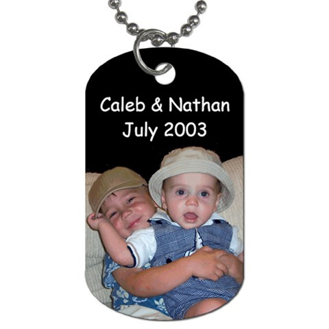 My Boys   Dog Tag By Anne   Dog Tag (one Side)   21ws6j8b2gc1   Www Artscow Com Front