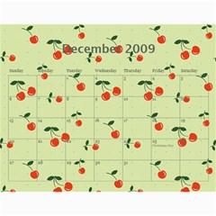 Cherry Calendar By Dania Mcalister   Wall Calendar 11  X 8 5  (12 Months)   T5pvz86qnkrx   Www Artscow Com Dec 2009