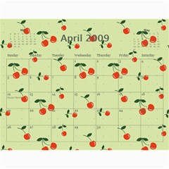 Cherry Calendar By Dania Mcalister   Wall Calendar 11  X 8 5  (12 Months)   T5pvz86qnkrx   Www Artscow Com Apr 2009