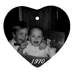 Tim/jeff Ornament By Gretchen Musa   Heart Ornament (two Sides)   Dv4gvkazs7wk   Www Artscow Com Front