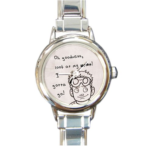Dr  Horrible Watch By Kellie   Round Italian Charm Watch   Eubbq2zyk3tm   Www Artscow Com Front