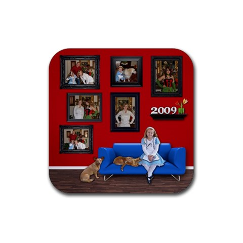 Square Rubber Coaster By Kellie Simpson   Rubber Coaster (square)   Iz09mnnzhema   Www Artscow Com Front