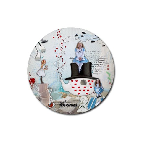Round Rubber Coaster By Kellie Simpson   Rubber Coaster (round)   Wihh4coridzw   Www Artscow Com Front
