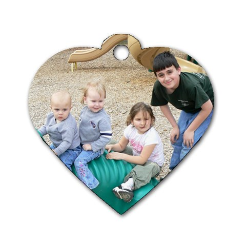 By Kim   Dog Tag Heart (one Side)   Vpizj9k8dp25   Www Artscow Com Front