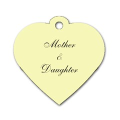 Mother & Daughter By Ga Patsy   Dog Tag Heart (two Sides)   Lak10og5pihw   Www Artscow Com Back