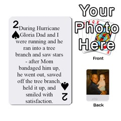 Memories Of Dad By Erica   Playing Cards 54 Designs   Ji0dbkozetpg   Www Artscow Com Front - Spade2