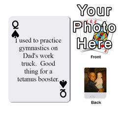Queen Memories Of Dad By Erica   Playing Cards 54 Designs   Ji0dbkozetpg   Www Artscow Com Front - SpadeQ