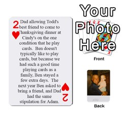 Memories Of Dad By Erica   Playing Cards 54 Designs   Ji0dbkozetpg   Www Artscow Com Front - Heart2