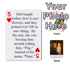 Memories Of Dad By Erica   Playing Cards 54 Designs   Ji0dbkozetpg   Www Artscow Com Front - Heart5