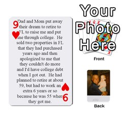 Memories Of Dad By Erica   Playing Cards 54 Designs   Ji0dbkozetpg   Www Artscow Com Front - Heart9