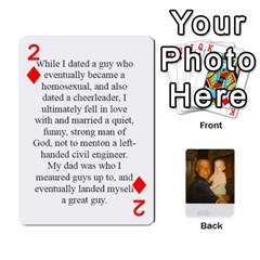 Memories Of Dad By Erica   Playing Cards 54 Designs   Ji0dbkozetpg   Www Artscow Com Front - Diamond2