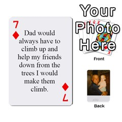 Memories Of Dad By Erica   Playing Cards 54 Designs   Ji0dbkozetpg   Www Artscow Com Front - Diamond7