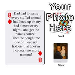 Memories Of Dad By Erica   Playing Cards 54 Designs   Ji0dbkozetpg   Www Artscow Com Front - Diamond8