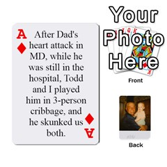 Ace Memories Of Dad By Erica   Playing Cards 54 Designs   Ji0dbkozetpg   Www Artscow Com Front - DiamondA
