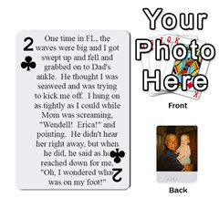 Memories Of Dad By Erica   Playing Cards 54 Designs   Ji0dbkozetpg   Www Artscow Com Front - Club2