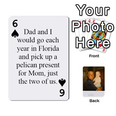 Memories Of Dad By Erica   Playing Cards 54 Designs   Ji0dbkozetpg   Www Artscow Com Front - Spade6