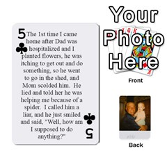 Memories Of Dad By Erica   Playing Cards 54 Designs   Ji0dbkozetpg   Www Artscow Com Front - Club5