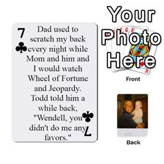 Memories Of Dad By Erica   Playing Cards 54 Designs   Ji0dbkozetpg   Www Artscow Com Front - Club7