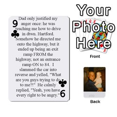 Memories Of Dad By Erica   Playing Cards 54 Designs   Ji0dbkozetpg   Www Artscow Com Front - Club9