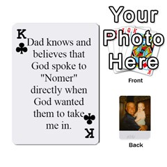King Memories Of Dad By Erica   Playing Cards 54 Designs   Ji0dbkozetpg   Www Artscow Com Front - ClubK