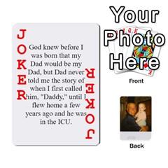 Memories Of Dad By Erica   Playing Cards 54 Designs   Ji0dbkozetpg   Www Artscow Com Front - Joker2