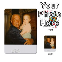 Memories Of Dad By Erica   Playing Cards 54 Designs   Ji0dbkozetpg   Www Artscow Com Back