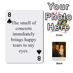 Memories Of Dad By Erica   Playing Cards 54 Designs   Ji0dbkozetpg   Www Artscow Com Front - Spade8