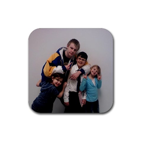Grandkids By Eriley75   Rubber Coaster (square)   6dhqurjth9n6   Www Artscow Com Front