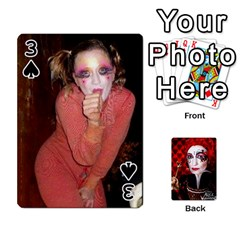Jesselynn s Birthday Cards! By Sheila O donnell   Playing Cards 54 Designs   3s4lag938njv   Www Artscow Com Front - Spade3