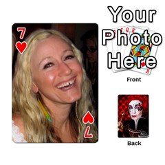 Jesselynn s Birthday Cards! By Sheila O donnell   Playing Cards 54 Designs   3s4lag938njv   Www Artscow Com Front - Heart7