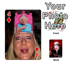 Jesselynn s Birthday Cards! By Sheila O donnell   Playing Cards 54 Designs   3s4lag938njv   Www Artscow Com Front - Diamond4