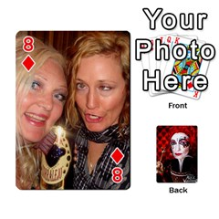 Jesselynn s Birthday Cards! By Sheila O donnell   Playing Cards 54 Designs   3s4lag938njv   Www Artscow Com Front - Diamond8