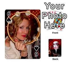 Jesselynn s Birthday Cards! By Sheila O donnell   Playing Cards 54 Designs   3s4lag938njv   Www Artscow Com Front - Spade6