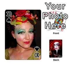 Jesselynn s Birthday Cards! By Sheila O donnell   Playing Cards 54 Designs   3s4lag938njv   Www Artscow Com Front - Spade10