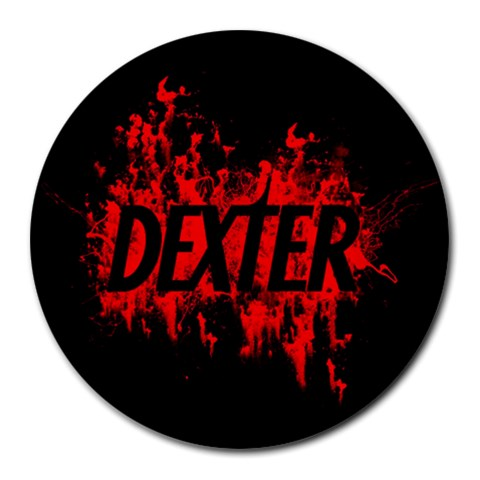 Dexter By Hollie   Round Mousepad   Zlfsxtmv78yi   Www Artscow Com Front