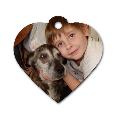Me And My Girly! By Cathi   Dog Tag Heart (one Side)   Vyc2vnidd5at   Www Artscow Com Front